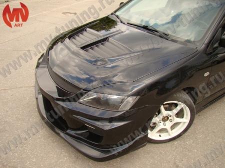 Стеклопл.Капот Mitsubishi Lancer IX в стиле EVO (в сборе)